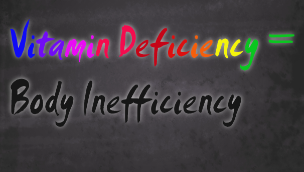 Vitamin Deficiency =Body Inefficiency