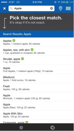 Find food - track your nutrition