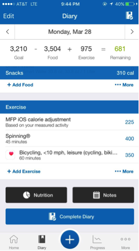 A day of tracking - track your nutrition