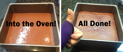 before and after - chocolate protein brownies