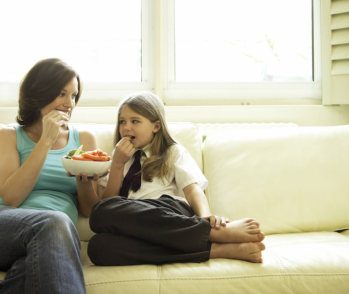 eating healthy with your kids