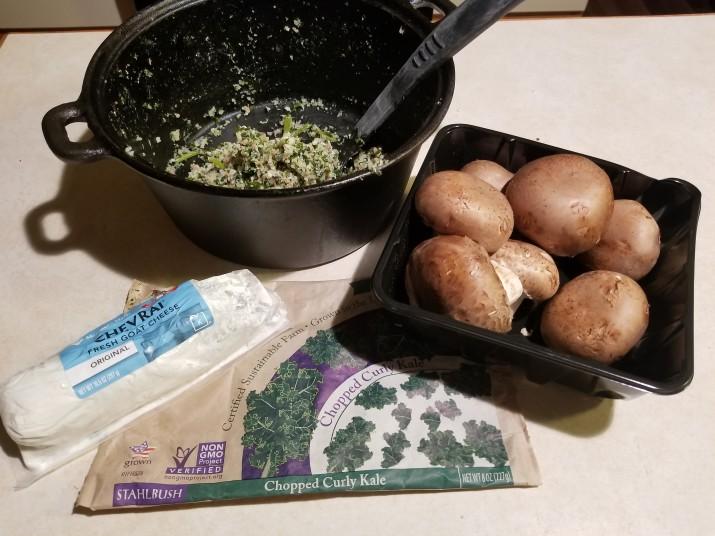 20 minute Mushroom Kale CauliRice